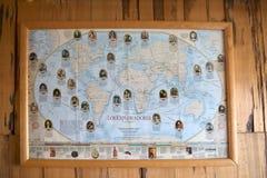 Carte d'exploration en Puerto Rio Tranquilo, Patagonia, Chili Images stock