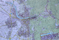 Carte d'Heidelberg Photos stock