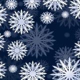 Carte d'hiver de flocons de neige de Noël image libre de droits