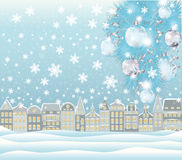 Carte d'hiver de Joyeux Noël Images stock