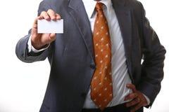 Carte d'homme d'affaires image stock