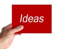 Carte d'idées photographie stock libre de droits