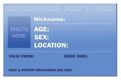 Carte d'identification de causerie Photographie stock libre de droits
