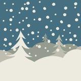 Carte d'illustration de l'hiver Illustration Libre de Droits