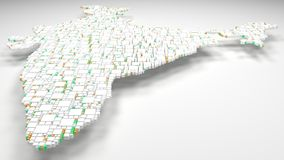 carte 3D d'Inde - Asie illustration libre de droits