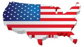 Carte d'indicateur des Etats-Unis Photographie stock