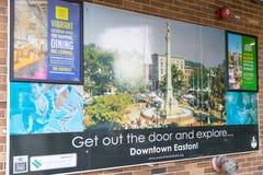 Carte d'introduction de centre de la ville d'Easton Images libres de droits