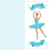 Carte d'invitation à l'exposition de danse de ballet avec Photographie stock