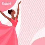 Carte d'invitation à l'exposition de danse de ballet avec Image stock