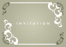 Carte d'invitation Photographie stock