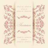 Carte d'invitation Photo stock