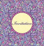 Carte _1 d'invitation Photographie stock libre de droits