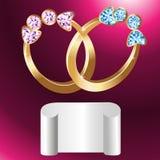 Carte d'invitation au mariage Photo stock