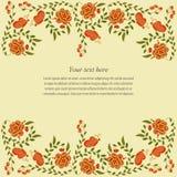 Carte d'invitation avec des fleurs Photographie stock libre de droits