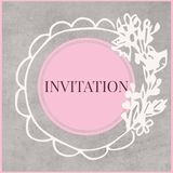 Carte _1 d'invitation illustration libre de droits