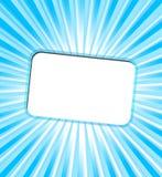 Carte d'invitation avec des rayons de turquoise Image stock