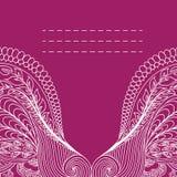 Carte d'invitation avec l'ornement détaillé fleuri. Photos libres de droits