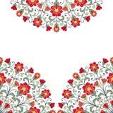 Carte d'invitation avec l'ornement floral Photo stock
