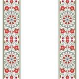 Carte d'invitation avec l'ornement floral Images stock