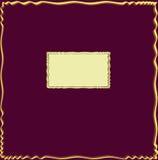 Carte d'invitation avec la trame ondulée décorative Images stock