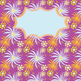 Carte d'invitation avec les éléments floraux abstraits Images stock