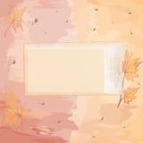 Carte d'invitation carrée avec la conception automnale Photographie stock