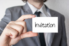 Carte d'invitation d'affaires Photos libres de droits