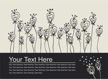 Carte d'invitation d'amour Photographie stock libre de droits