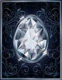 Carte d'invitation d'oeufs de Diamond Easter Photo libre de droits