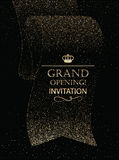 Carte d'invitation d'ouverture officielle avec le ruban abstrait Photographie stock
