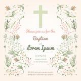 Carte d'invitation de baptême illustration stock