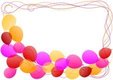 Carte d'invitation de cadre de frontière de ballons Photos stock