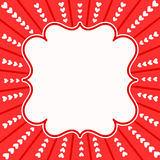 Carte d'invitation de cadre d'explosion de coeurs Photo libre de droits