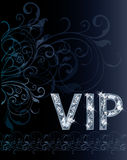 Carte d'invitation de diamant de VIP Photographie stock