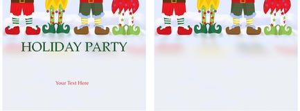 Carte d'invitation de fête de Noël Photos libres de droits