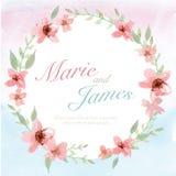 Carte d'invitation de fleur Photographie stock