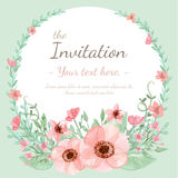 Carte d'invitation de fleur Image stock