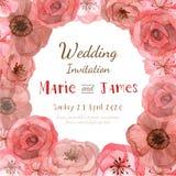 Carte d'invitation de fleur Image stock