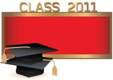 Carte d'invitation de graduation avec des mortiers Photos libres de droits