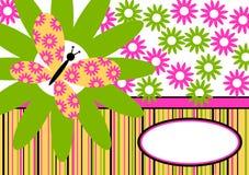 Carte d'invitation de guindineau de source Photos libres de droits
