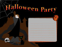 Carte d'invitation de Halloween illustration libre de droits
