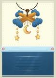 Carte d'invitation de jouet de fête de naissance Images stock