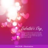 Carte d'invitation de jour ou de mariage du ` s de Valentine. Photographie stock libre de droits