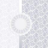 Carte d'invitation de mariage Photos libres de droits