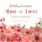 Carte d'invitation de mariage Photo libre de droits