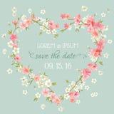 Carte d'invitation de mariage Photos stock