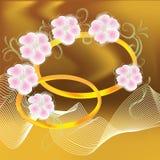 Carte d'invitation de mariage avec des boucles Photo libre de droits