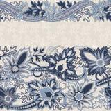 Carte d'invitation de mariage avec l'ornement ethnique de Paisley de fleur illustration de vecteur