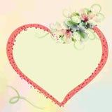 Carte d'invitation de mariage avec le bouquet dans le col en pastel Photographie stock libre de droits