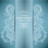 Carte d'invitation de mariage avec les éléments floraux illustration de vecteur